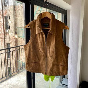 Vintage Genuine Leather Vest